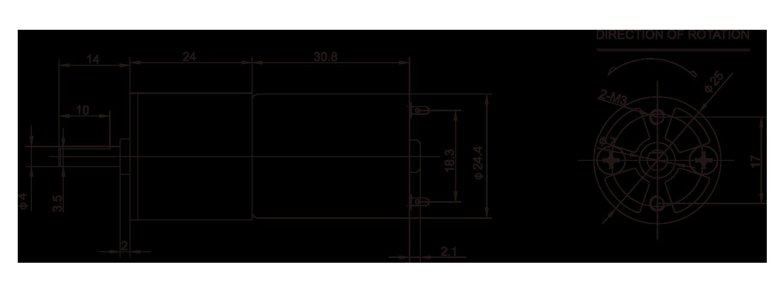 Gear-box-Motor-_25JZG2431_Outline-drawing